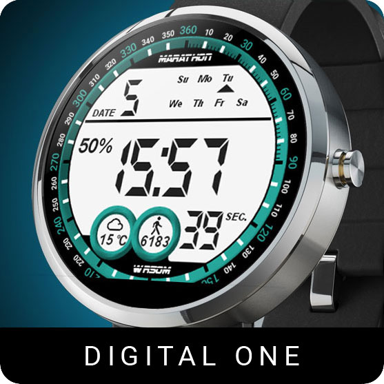 Digital One Watch Face
