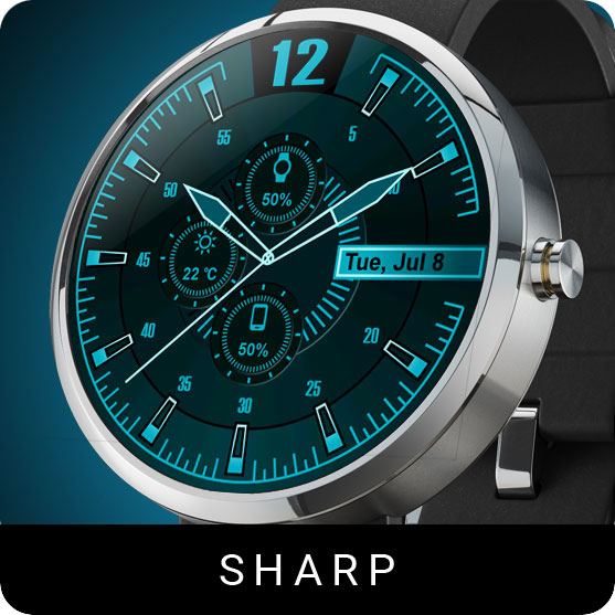 Sharp Watch Face