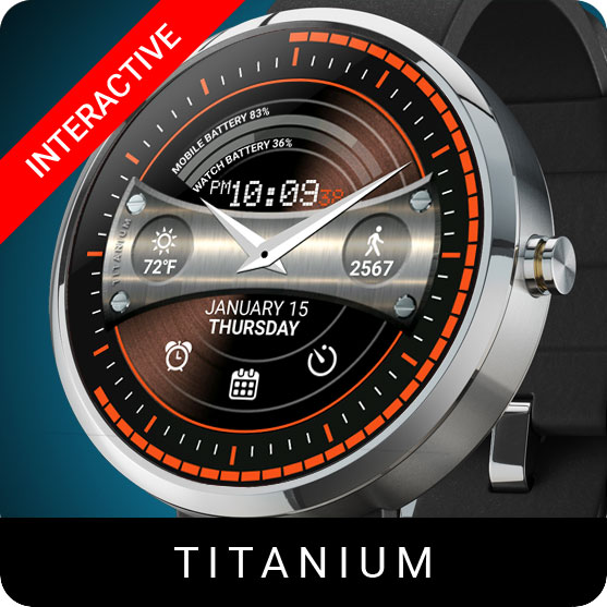 Titanium Watch Face