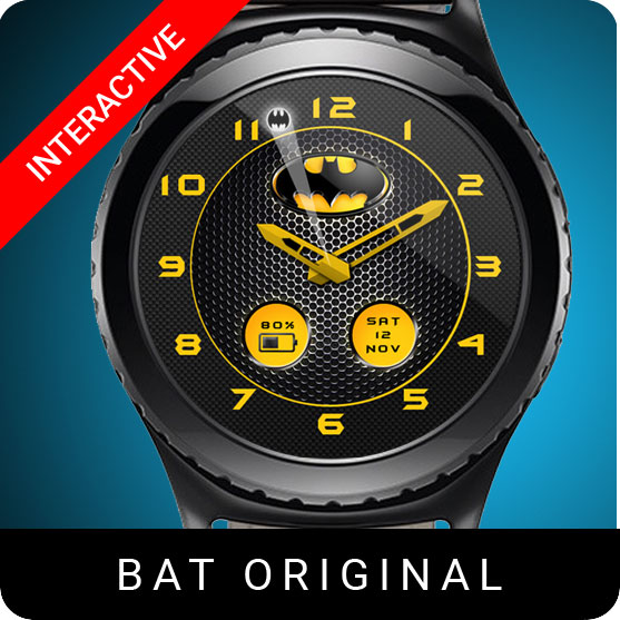 Batman Original Watch Face for Samsung Gear S2 / Gear S3 / Galaxy Watch