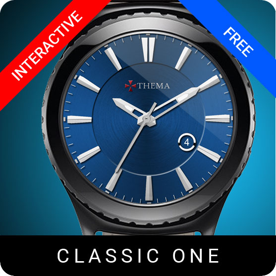 Classic One Watch Face for Samsung Gear S2 / Gear S3 / Galaxy Watch