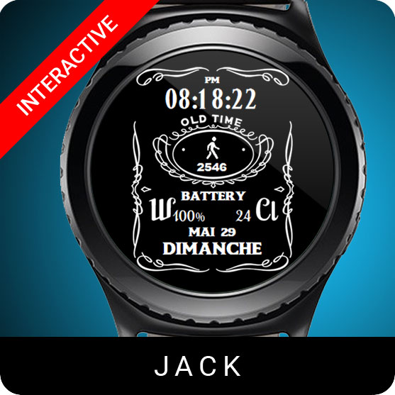 Jack Watch Face for Samsung Gear S2 / Gear S3 / Galaxy Watch