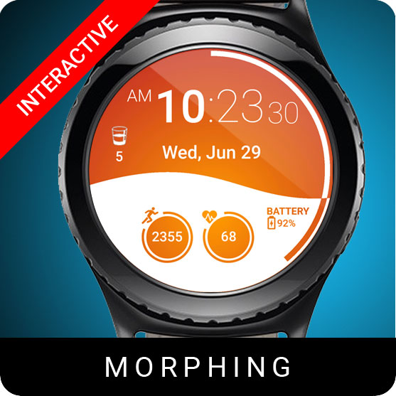 Morphing Watch Face for Samsung Gear S2 / Gear S3 / Galaxy Watch