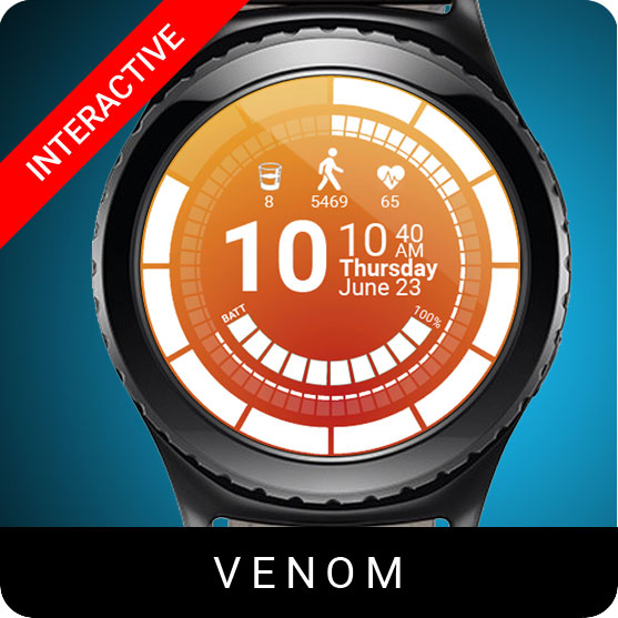 Venom Watch Face for Samsung Gear S2 / Gear S3 / Galaxy Watch