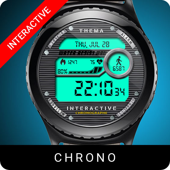 Chrono Watch Face for Samsung Gear S2 / Gear S3 / Galaxy Watch