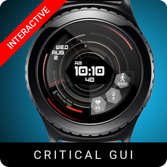 Critical GUI Watch Face for Samsung Gear S2 / Gear S3 / Galaxy Watch