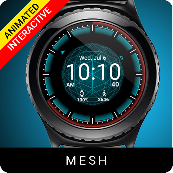 Mesh Watch Face for Samsung Gear S2 / Gear S3 / Galaxy Watch