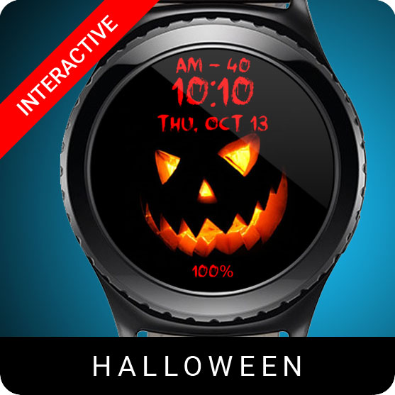 Halloween Watch Face for Samsung Gear S2 / Gear S3 / Galaxy Watch