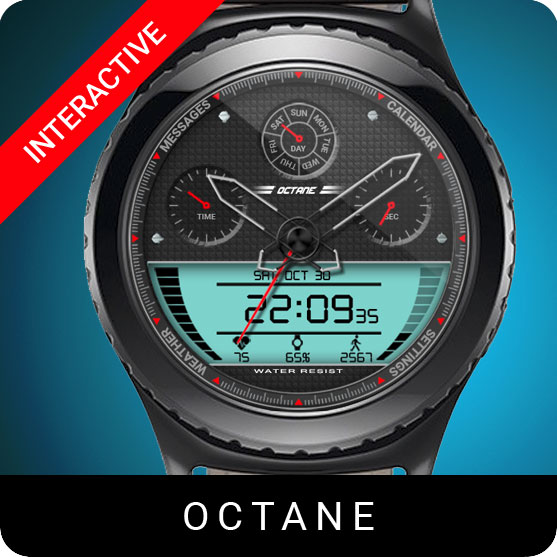 Octane Watch Face for Samsung Gear S2 / Gear S3 / Galaxy Watch