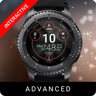 Advanced Watch Face for Samsung Gear S2 / Gear S3 / Galaxy Watch