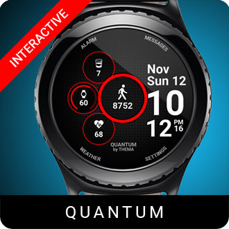 Quante Watch Face for Samsung Gear S2 / Gear S3 / Galaxy Watch