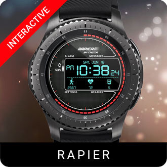 Rapier Watch Face for Samsung Gear S2 / Gear S3 / Galaxy Watch