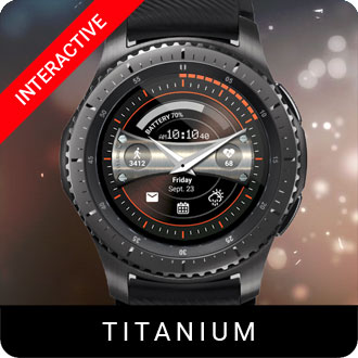 Titanium Watch Face for Samsung Gear S2 / Gear S3 / Galaxy Watch
