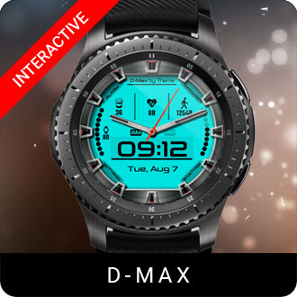 D-Max Watch Face for Samsung Gear S2 / Gear S3 / Galaxy Watch