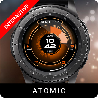 Atomic Watch Face for Samsung Gear S2 / Gear S3 / Galaxy Watch