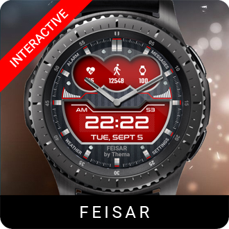 Feisar Watch Face for Samsung Gear S2 / Gear S3 / Galaxy Watch