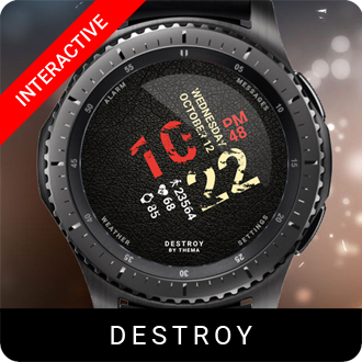 Destroy Watch Face for Samsung Gear S2 / Gear S3 / Galaxy Watch