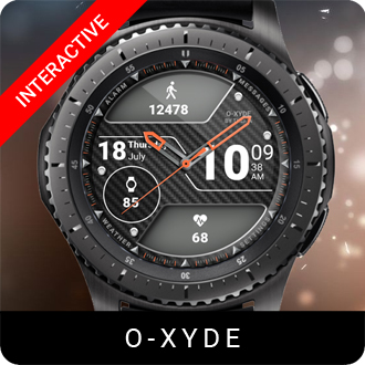 O-Xyde Watch Face for Samsung Gear S2 / Gear S3 / Galaxy Watch