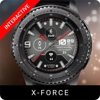 X-Force Watch Face for Samsung Gear S2 / Gear S3 / Galaxy Watch