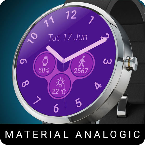 Material Analogic Watch Face