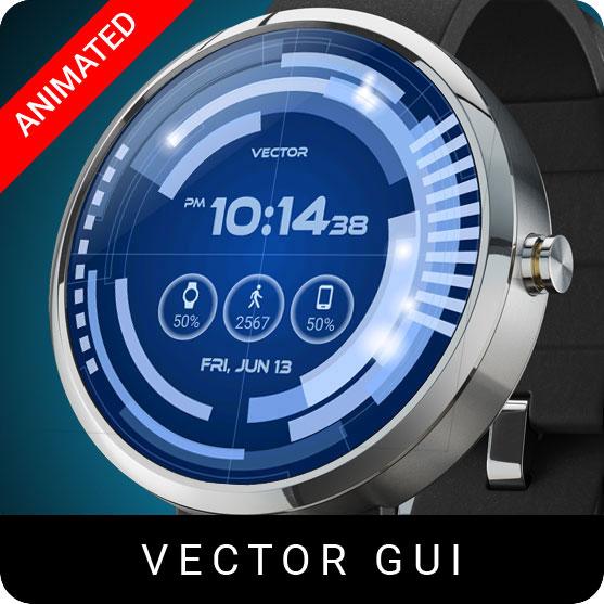 Vector GUI Watch Face