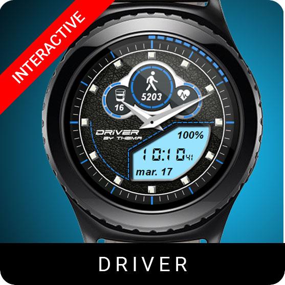 Driver Watch Face for Samsung Gear S2 / Gear S3 / Galaxy Watch