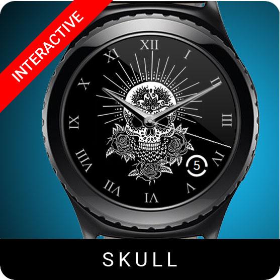 Skull Watch Face for Samsung Gear S2 / Gear S3 / Galaxy Watch