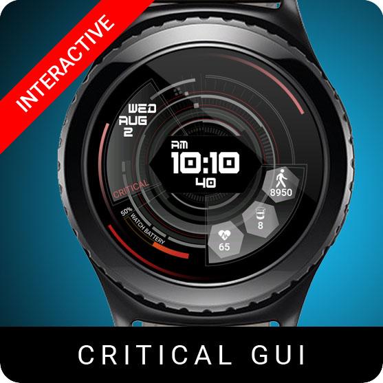 Critical GUI Watch Face for Samsung Gear S2 / Gear S3 / Galaxy Watch