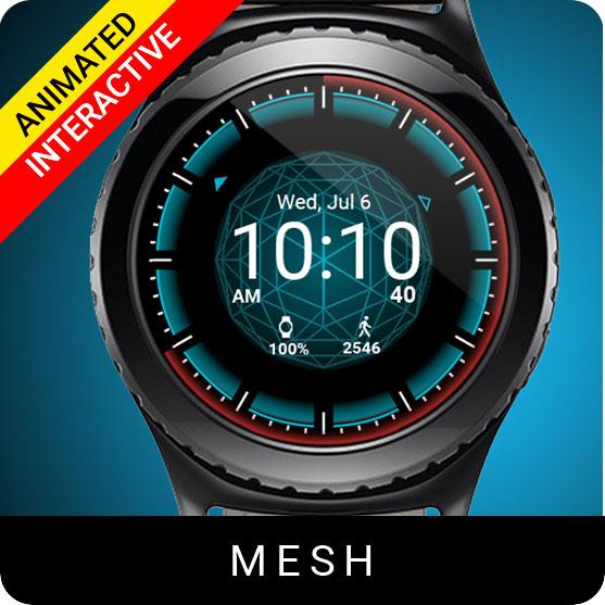 Mesh Watch Face for Samsung Gear S2 / Gear S3 / Galaxy Watch