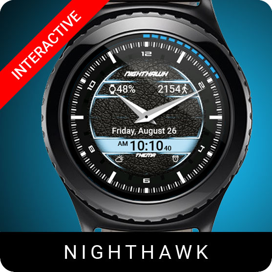 Nighthawk Watch Face for Samsung Gear S2 / Gear S3 / Galaxy Watch