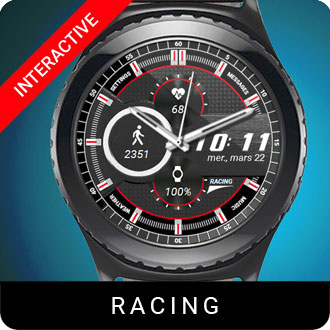 Racing Watch Face for Samsung Gear S2 / Gear S3 / Galaxy Watch