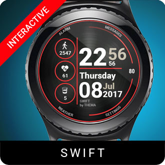 Swift Watch Face for Samsung Gear S2 / Gear S3 / Galaxy Watch
