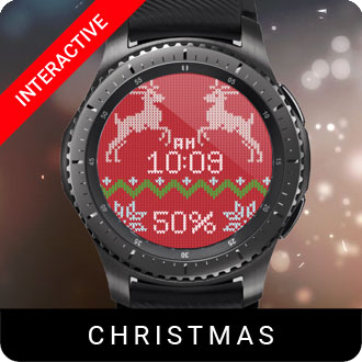Christmas Sweater Watch Face for Samsung Gear S2 / Gear S3 / Galaxy Watch
