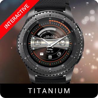 Titanium Watch Face for Samsung Gear S2 / Gear S3 / Galaxy Watch
