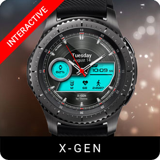 X-Gen Watch Face for Samsung Gear S2 / Gear S3 / Galaxy Watch
