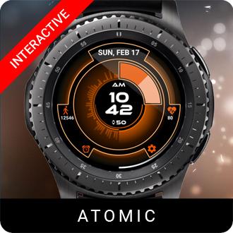 Atomic Watch Face for Samsung Gear S2 / Gear S3 / Galaxy Watch