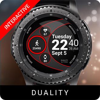 Duality Watch Face for Samsung Gear S2 / Gear S3 / Galaxy Watch