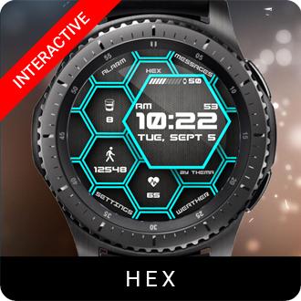 Hex Watch Face for Samsung Gear S2 / Gear S3 / Galaxy Watch