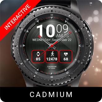 Cadmium Watch Face for Samsung Gear S2 / Gear S3 / Galaxy Watch