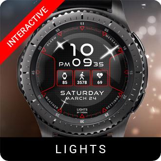 Lights Watch Face for Samsung Gear S2 / Gear S3 / Galaxy Watch