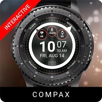 Compax Watch Face for Samsung Gear S2 / Gear S3 / Galaxy Watch