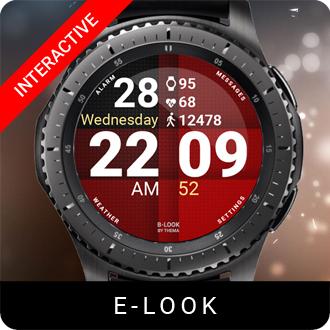 E-Look Watch Face for Samsung Gear S2 / Gear S3 / Galaxy Watch