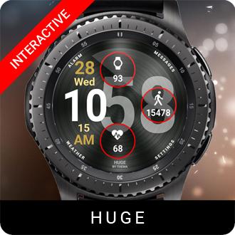 Huge Watch Face for Samsung Gear S2 / Gear S3 / Galaxy Watch