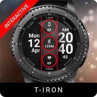 T-Iron Watch Face for Samsung Gear S2 / Gear S3 / Galaxy Watch