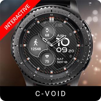 C-Void Watch Face for Samsung Gear S2 / Gear S3 / Galaxy Watch
